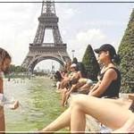 В Европе жара за 40