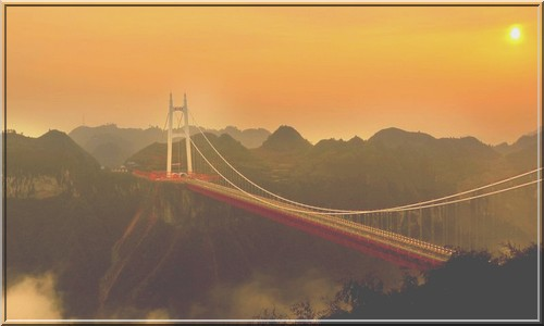самый длинный в мире подвесной мост
